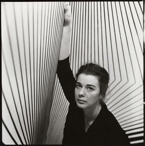 1. Ida Kar, Bridget Riley Louise, 1963, @National Portrait Gallery London