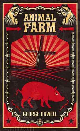 sShepard Fairey (Obey), copertina LA FATTORIA DEGLI ANIMALI di Orwell