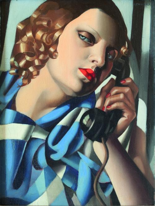 Tamara de Lempicka, Il telefono II, 1930, ©1980 TAH / Museum Masters International NYC ©Tamara Art Heritage / Museum Masters International NYC